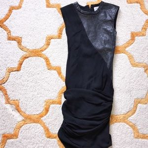 2B Rych Black Dress With Pleather Accent